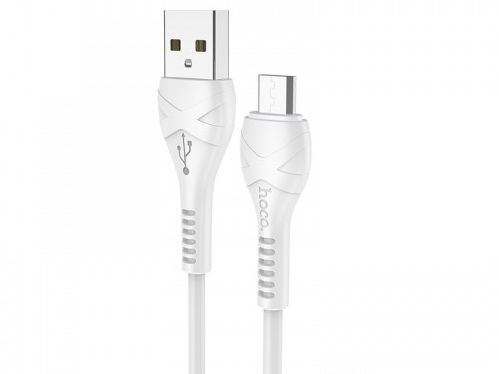 X37 Cool power charging data cable for Micro белый hoco